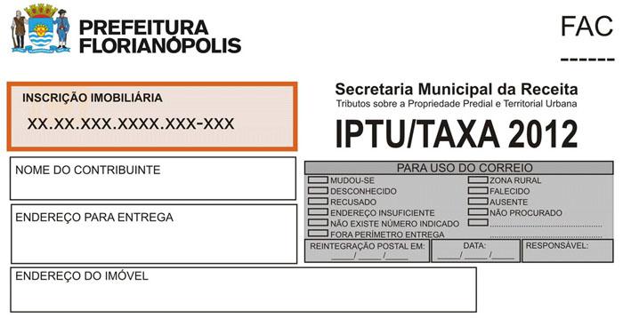 * A INSCRIÇÃO IMOBILIÁRIA encontra-se na contra capa do carnê do IPTU e possui 17 números: